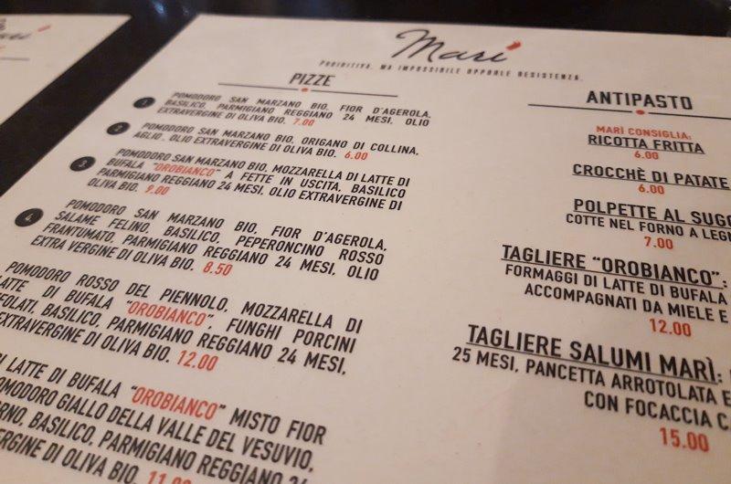 Pizzeria Mari Milano